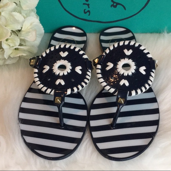02390d92be1 Jack Rogers Georgica Jelly Striped Sandals NWT